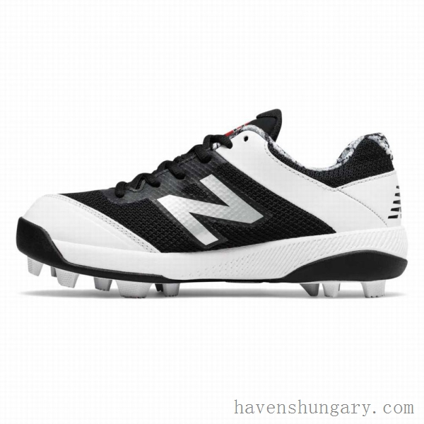 (office shoes) New Balance 4040v4 Rubber Molded Pedroia Lány - Softball Cipő - Fekete/Fehér Hungary